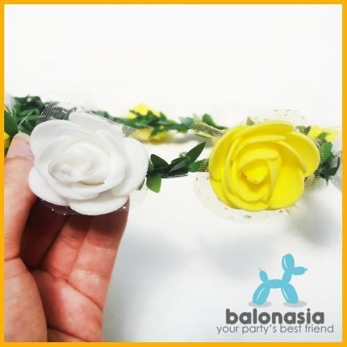 Foto Produk BALONASIA FLOWER CROWN AKSESORIS PESTA MAHKOTA BUNGA 2 WARNA dari mahavirstore