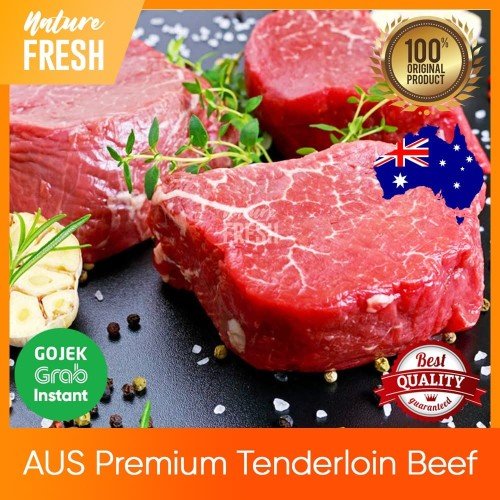 Foto Produk Daging Sapi AUS Tenderloin Premium Grade - AUS Beef Steak Has 200gr - 200gr dari NatureFresh