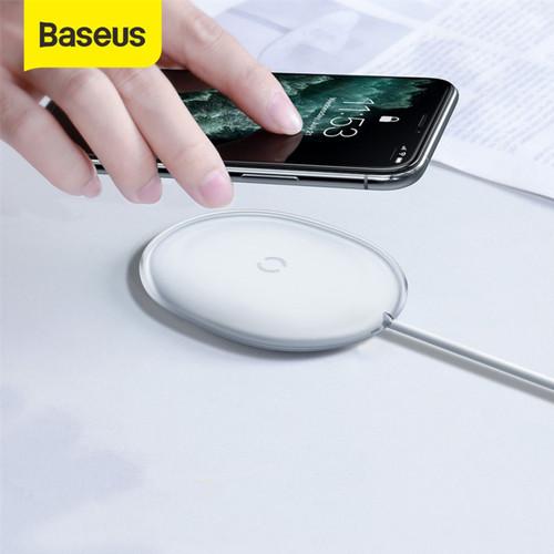 Foto Produk BASEUS JELLY WIRELESS CHARGER PAD FAST CHARGING IPHONE / PODS - Putih dari Baseus Official Store