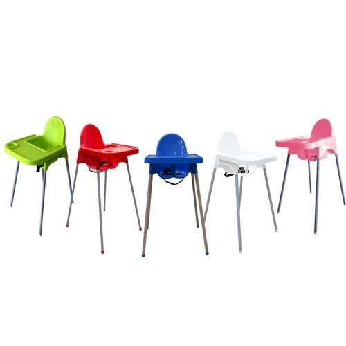 Foto Produk Kursi Makan Bayi Atria Doby High Chair Putih - Pink dari Atria Furniture Official