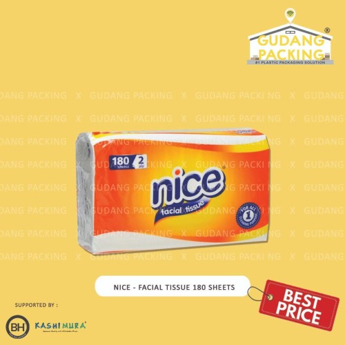 Foto Produk NICE - Tissue Facial 180 Sheets 2 Ply - Pak, 180s dari Gudang Packing