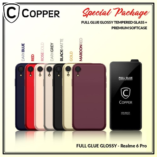 Foto Produk Realme 6 Pro - Paket Bundling Tempered Glass Glossy Dan Softcase dari Copper Indonesia