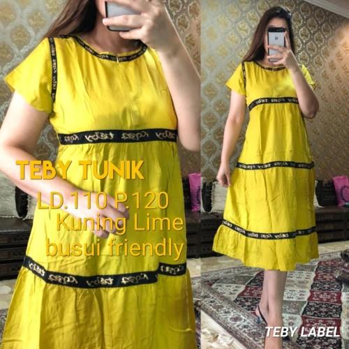 Foto Produk daster arab/india/dubai/turki teby tunik dress busui midi dari murmershops & fashion