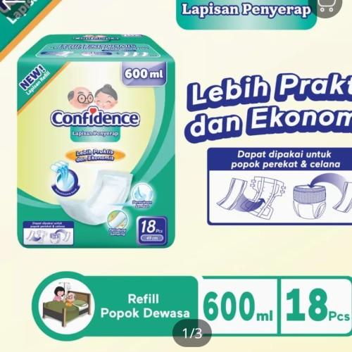 Foto Produk confidence insert pads pad lapisan penyerap popok dewasa 600 ml 800 ml - 800 Ml dari Small 2 Big Fashion