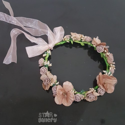 Foto Produk Mahkota Bunga Bandana Bunga Flower Crown Pesta Bridal Shower FC1 dari Star Gallery