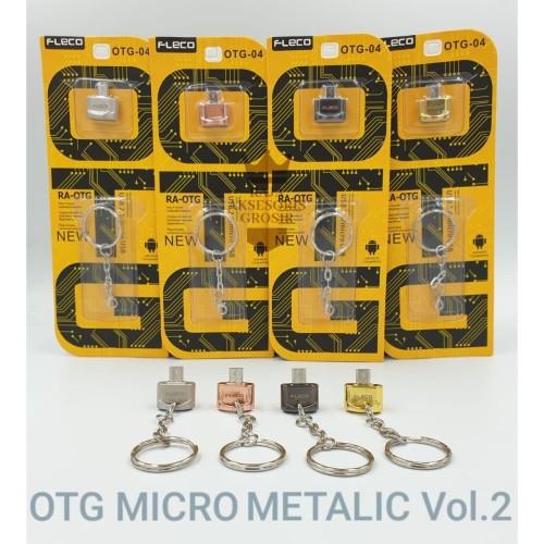 Foto Produk OTG FLECO Mini Metalic Micro USB Original + Gantungan Kunci dari Raja Aksesoris Grosir
