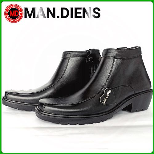 Foto Produk MANDIENS - K164 Sepatu Boots Kulit Original Medali Export Quality - Hitam, 39 dari Toko Man Dien