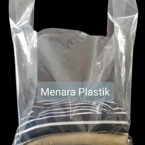 Foto Produk Kantong Plastik / kresek PE uk 28 x 48 Bening Transparan dan Tebal dari Menara Plastik