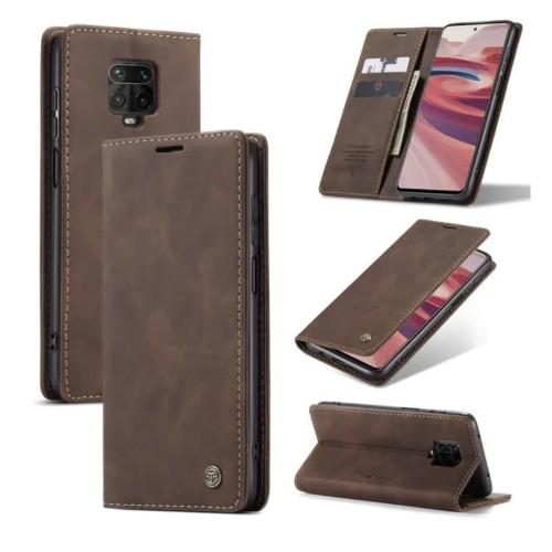Foto Produk Xiaomi Redmi Note 9 pro Flip Case Caseme Cover Leather Wallet Dompet - Maron dari Vinvend ACC