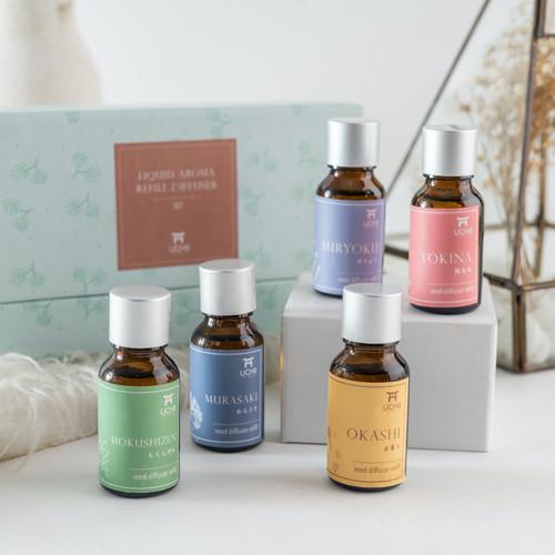 Foto Produk UCHII REFILL AROMA Therapy GIFT SET BOX 5's | Paket Isi Ulang Diffuser - MIX REED dari uchii store