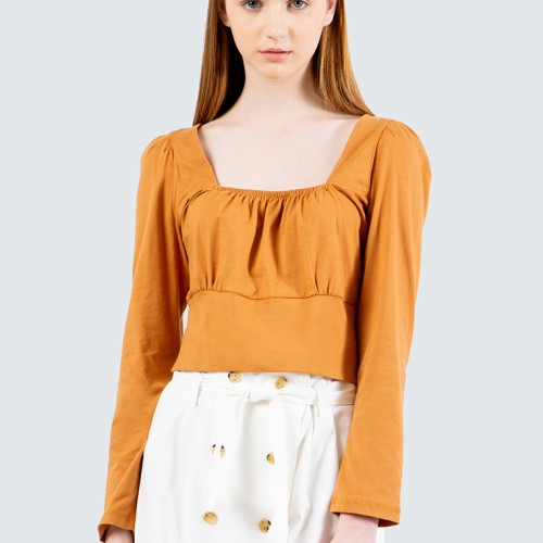 Foto Produk Colorbox Romantic Neckline Blouse I-Tlkfcr120E014 Brown - Cokelat, S dari Colorbox Indonesia