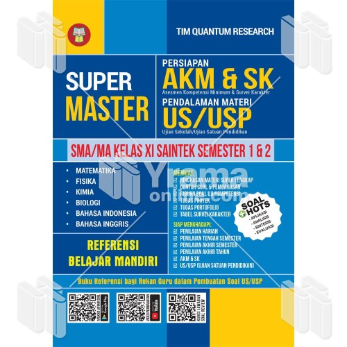 Jual Buku Super Master Akm Sk Dan Us Usp Sma Ma Kelas Xi Saintek Kab Bandung Warung Literasi Tokopedia