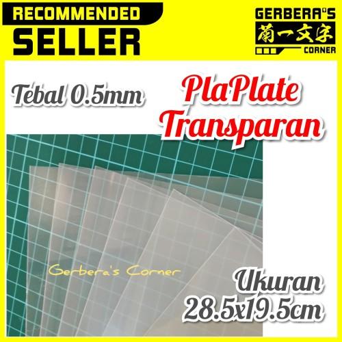 Foto Produk PlaPlate Transparan 0.5mm - Plastic Plate Transparant 0.5mm dari Gerbera's Corner