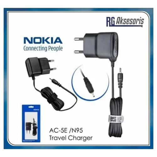 Foto Produk Charger Nokia ORIGINAL 99% Lubang Kecil N95 AC-15E packing mika press dari RG AKSESORIS HP