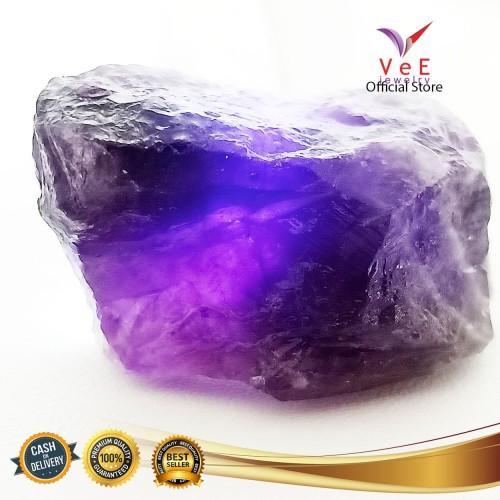 Foto Produk Bongkahan Batu Kecubung Ungu Amethyst - VeE Liontin Wanita Pria dari Vee Jewelry