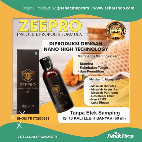 Foto Produk Propolis Kesehatan Zeepro Propolis Madu Standar BPOM Alami Asli 100% dari Sehatshopcom Herbal BPOM Halal MUI dan Produk Kesehatan