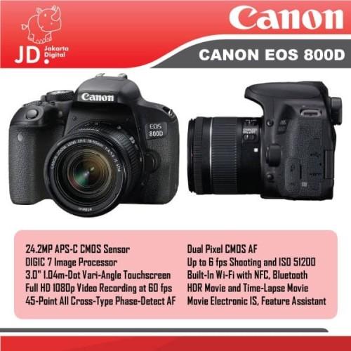 Foto Produk CANON EOS 800D KIT 18-55MM IS STM / EOS 800D IS STM PROMO dari Jakarta Digital