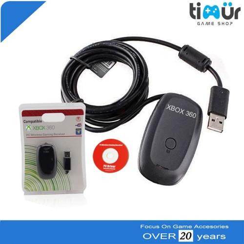 Foto Produk Receiver Stik Stick Xbox 360 Wireless Gaming Dongle PC Windows Laptop dari Timur Game Shop