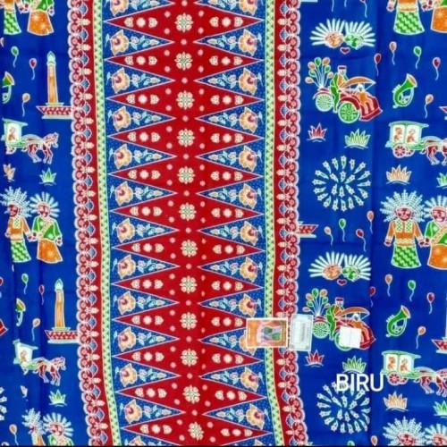 Foto Produk Kain sarung betawi // kain sarung ondel ondel - Biru dari Irwan busana
