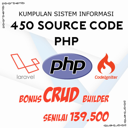 Foto Produk 450 Source Code Program Aplikasi dan Sistem Informasi PHP dari Code Orayo