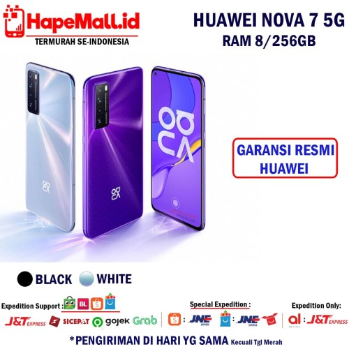 Foto Produk HUAWEI NOVA 7 5G RAM 8/256GB GARANSI RESMI HUAWEI INDONESIA TERMURAH - Ungu dari Hapemall.id