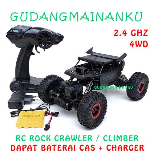 Foto Produk RC Remote Control Mobil 4WD ROCK CRAWLER CLIMBER OFFROAD 2.4Ghz - Hitam dari Gudangmainanku