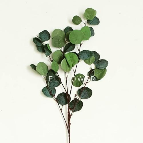 Foto Produk Daun Eucalyptus T95cm Artificial Dekorasi Rustic Bunga Artificial - hijau tua dari VOEL design