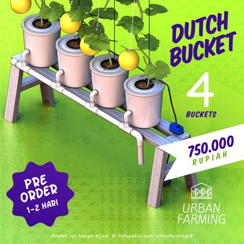 Foto Produk Dutch Bucket Hydroponic System - 4 Lubang Paket/Kit/Sistem/Hidroponik dari UrbanFarming