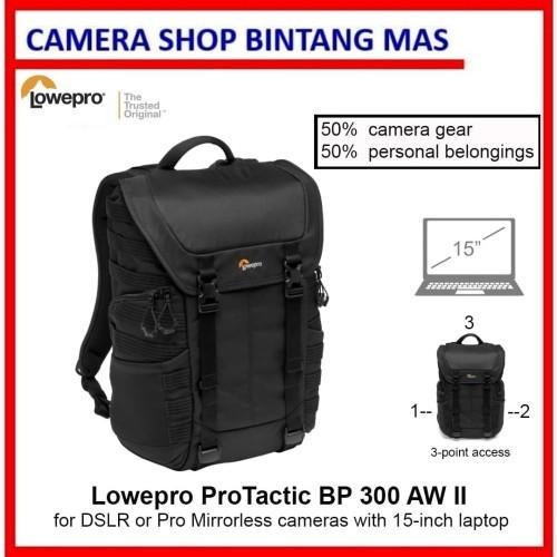 Foto Produk Lowepro ProTactic BP 300 AW II Camera and Laptop Backpack (Black) dari Camera Shop Bintang Mas