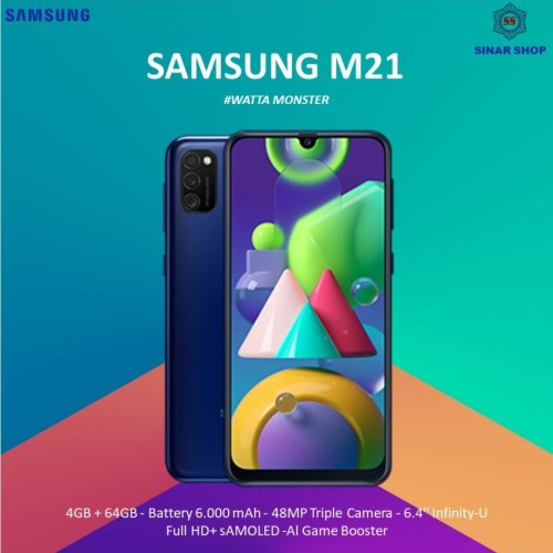 Foto Produk Samsung galaxy M21 Ram 4 Rom 64 Garansi Resmi - Biru dari Home Cell