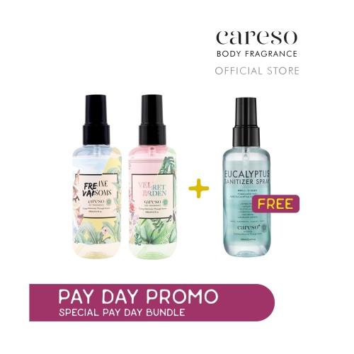 Foto Produk SPECIAL PROMO BUNDLE: Buy 2 Fragrance GET FREE Sanitizer - Velvet Rose, Wild Orchid dari CARESO