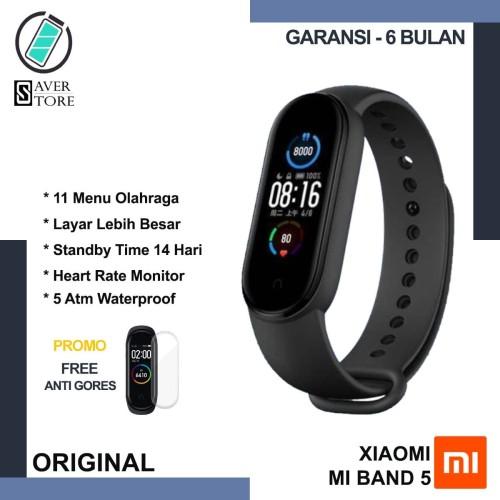 Foto Produk Original jam smartwatch Xiaomi Miband 5 smartband mi band 5 miband5 - CN VERSION dari SAVER STORE
