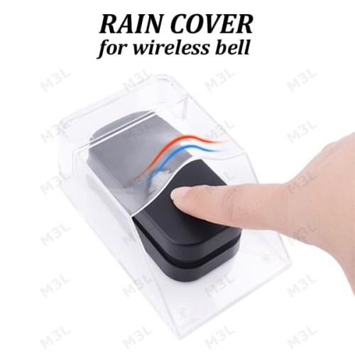 Foto Produk Rain Cover Tutup Pelindung Bel Pintu Rumah Wireless Door Bell Outdoor dari M3L