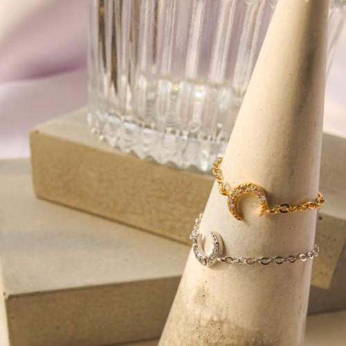 Foto Produk Dear Me - Amanda Ring (925 Sterling Silver 18K Gold Plated) Cincin dari Dear Me Jewelry
