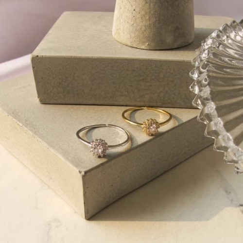 Foto Produk Dear Me - Irene Ring 925 Sterling Silver 18K Gold Plated Cincin Wanita dari Dear Me Jewelry