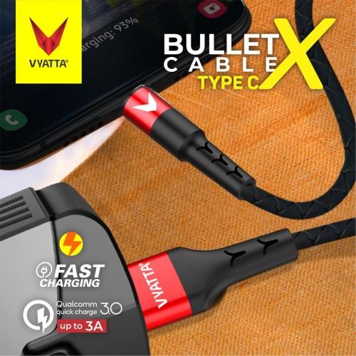 Foto Produk VYATTA BULLET TYPE C USB CABLE - FAST CHARGE - GARANSI 12 BULAN - Evo Black dari VYATTA INDONESIA