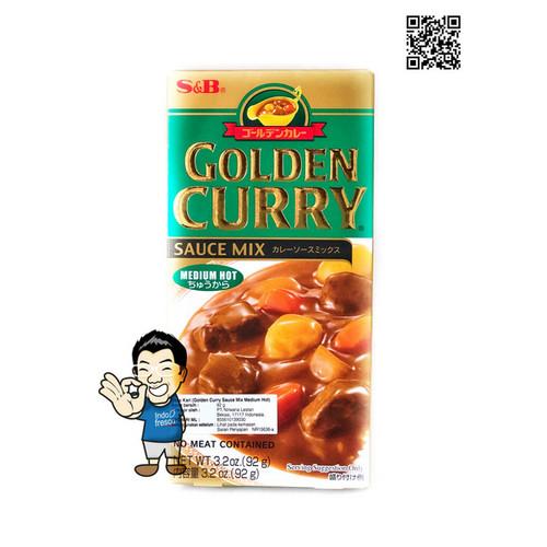Foto Produk S&B Golden Curry Sauce Mix/ Saus Kari - 100g - Medium dari IndoFresco