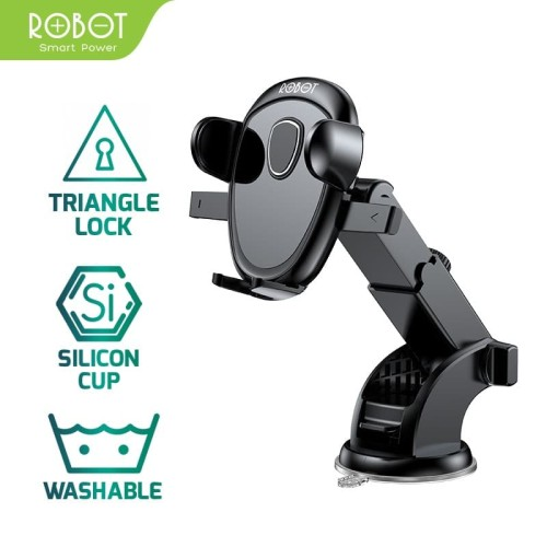 Foto Produk Universal Car Holder ROBOT RT-CH11 360 Rotable For Smartphone dari ROBOT OFFICIAL SHOP