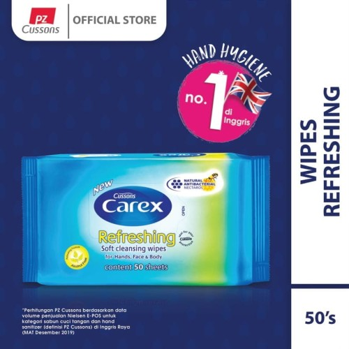 Foto Produk Carex Wipes Refreshing 50 Sheet X 2 dari Cussons Official Store
