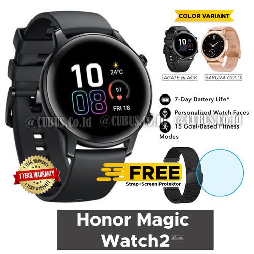 Foto Produk Honor Magic Watch2 42mm Amoled Water Resistant english Garansi Resmi - Agate Black dari Cubus_Co_ID