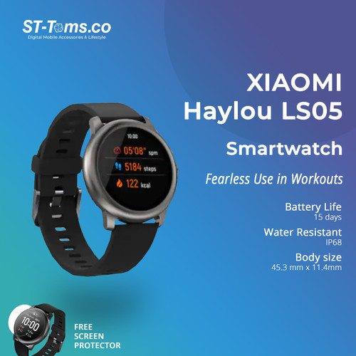 Foto Produk Haylou Solar 1.28 inch TFT Touch Screen Smartwatch LS05 IP68 - English - LS05 Only dari ST-Toms.co