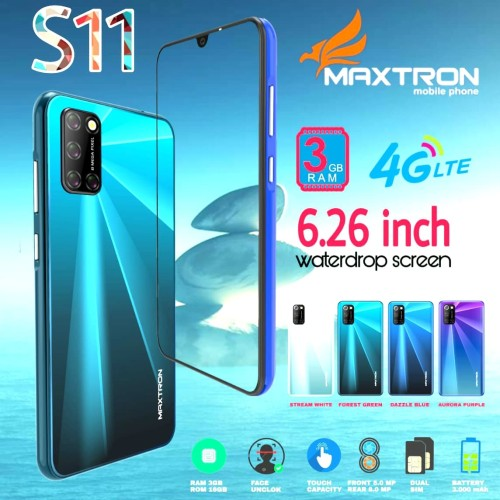 Foto Produk Hp Maxtron S11 - 4G Lte Android 6.3 inch 3gb /16gb Water Drop Lcd Res dari Dynamic Mobile