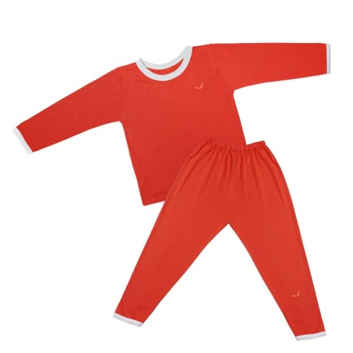 Foto Produk Long at home Tees Set Tangerine - 4-5 tahun dari Echu Kids