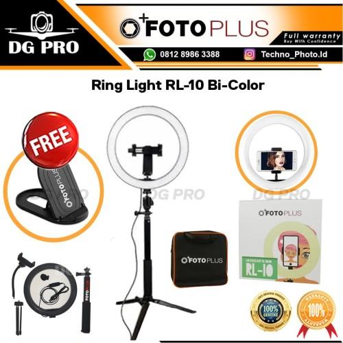 Foto Produk Fotoplus Ring Light RL-10 Bi-Color - Ringlight Mini Ring Lite Lampu dari DG PRO
