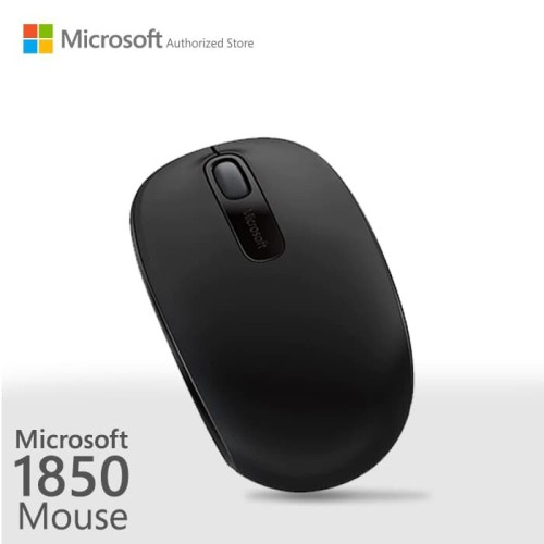 Foto Produk Microsoft Wireless Mobile Mouse 1850 Black [U7Z-00010] dari Microsoft Authorized