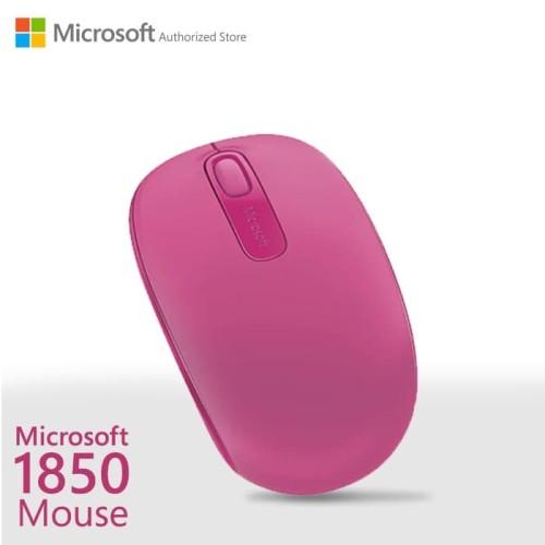 Foto Produk Microsoft Wireless Mobile Mouse 1850 MagentaPink [U7Z-00066] dari Microsoft Authorized