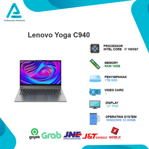 "Foto Produk Lenovo Yoga C940 14iiL 2in1 Touch i7 1065G7 16GB 1TBssd W10 14"" FHD dari Ambassador Notebook"