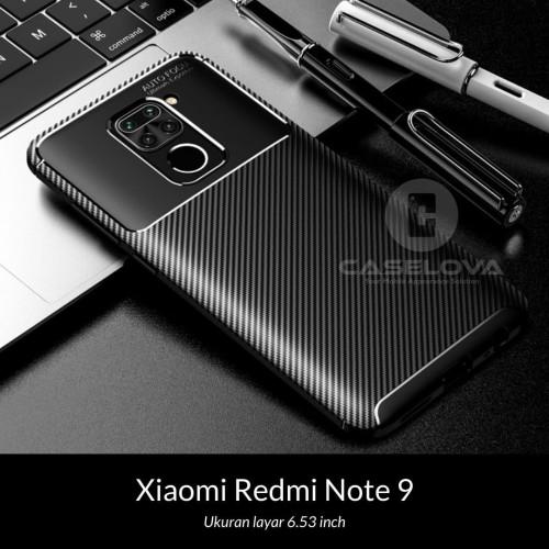 Foto Produk Case Xiaomi Redmi Note 9 Synthetic Fiber Protective Carbon - Hitam dari Caselova Store
