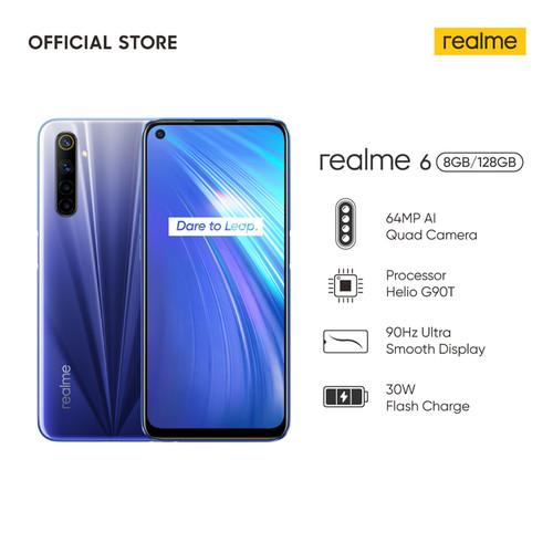 Foto Produk Realme 6 8/128 GB (RAM 8GB Internal 128GB) - Garansi Resmi Realme - Putih dari Universe Store