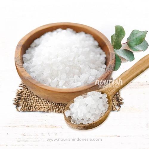 Foto Produk Unrefined Balinese Sea Salt Coarse (250gr) (Garam Laut Kasar) dari Nourish Indonesia
